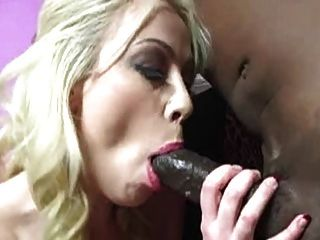 Blonde Slut Eats Black Guys Ass Hole