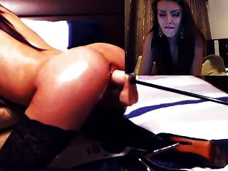 Sexy Girl Takes It From Mechanical Dildo On Cam