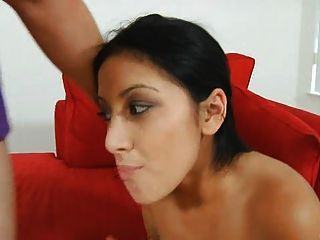 Nubile Sucks A Mean Cock And Then Gets Fucked.