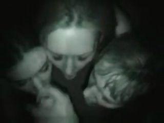 Three Girls Share One Lucky Guys Dick