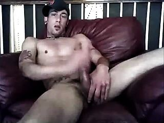 Whit Guy Jerking His Long Cock