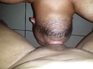 Tranny gets a monster dildo in the ass