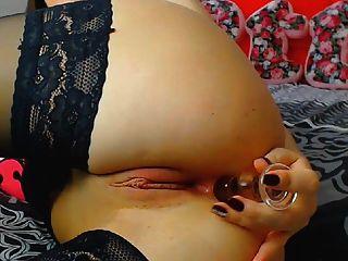Horny Brunette Slut Fucks Her Wet Pussy With Dildo To Orgasm
