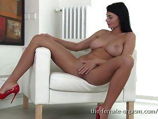 Sexy Coed With Big Natural Breasts Masturbates To Orgasm