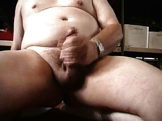 Chubby Man Wank And Cum
