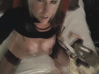 Busty Blonde Rides Dildo Till Orgasm On Webcam
