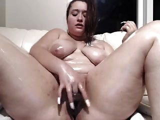 Oil Up Bella And Fucks Herself