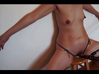 Submissive Wife Cattle Prod On Stool