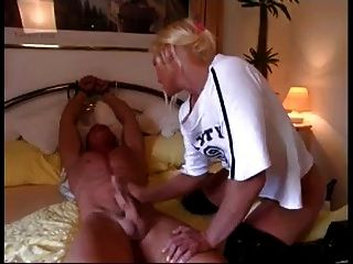 Tied To Bed And Get Some Handjob