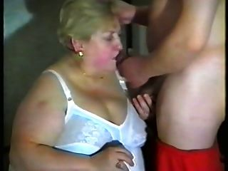 Granny Likes Milk In Mouth And Tits
