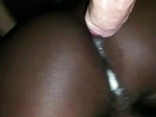 Big White Dick Fills Black Bitch With Cum