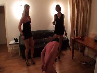 2 Sadistic Girls Whipping Frenzy