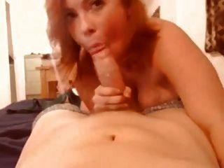 Blowjob And Cum On Redhead Tits