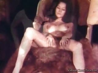 Retro Lesbian Threesome - Vintage Video.