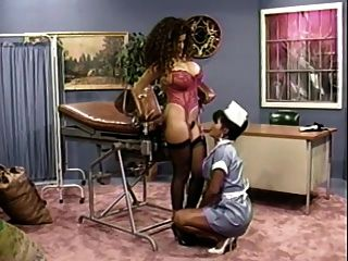 Busty Nurse Gives Her Busty Patient A Check Up (classic)