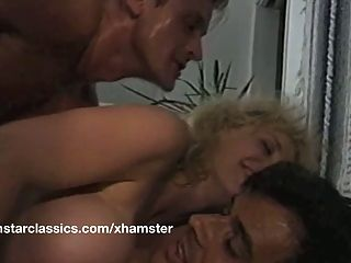 Busty Classic Pornstar Double Anal Fucking