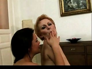 Young Girl Licks Hairy Mature Pussy Bvr