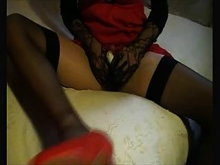 Cd  In Black Stockings, Having Fun With New Toy