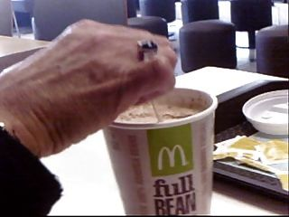 Pandora Wanks Cock And Inserts Stirer In Public Mcdonalds