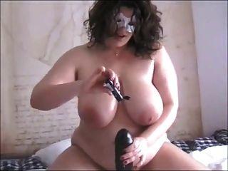 Amateur  Bbw With Big Black Toy