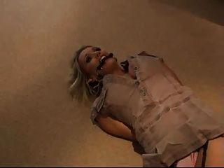 Tied Up Gir On The Floor