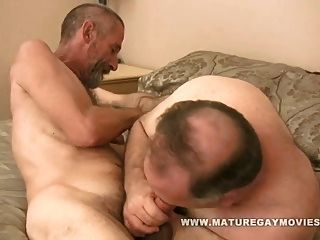 Chubby Silverdaddy Gets Fucked By Skinny Friend