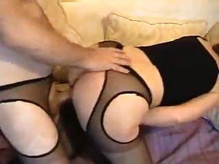 Beautiful White Ass  Housewife In Sexy Pantyhose