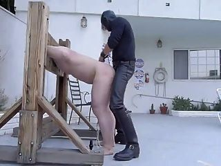 Spanking And Fucking Slave In Stockade