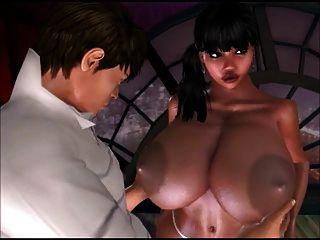Three Busty Shemales In Strip Club