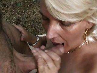 Blonde Mature Lady In The Woods