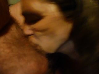 Sucking Off My Husband Cock With Cum In My Mouth