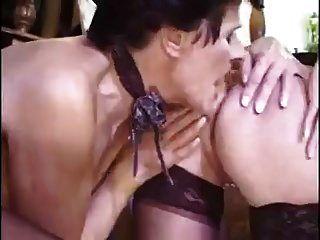 Classic Lesbian Granny Scene