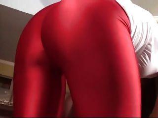 Mistress In Red Legging Facesitting