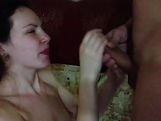 Flat Chested Chick Sucks And Gets A Nice Facial