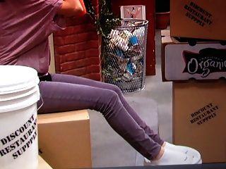 Selena Gomez White Ankle Socks