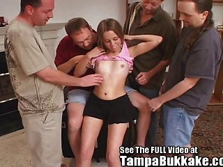 Anal Virgin Teen Gets Ass Broken In By Dirty D & The Boyz!