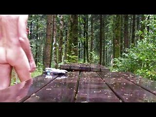 Outdoor Bdsm Under Rain In Forets