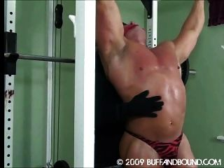 Muscle Guys Bound And Spank