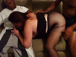 Mature Amateur Bbw In Interracial Threesome 4