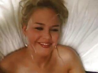 Cute Blonde Gives Blowjob And Gets Facial Cumshot