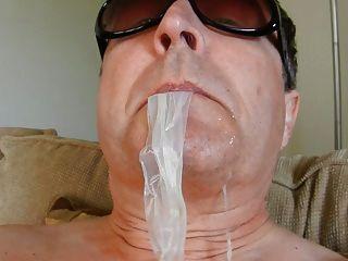 Condom Cum Eating