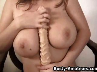 Busty Chick Sara Stone Playing Her Pussy With Dildo