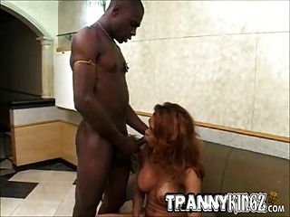 Awesome Interracial Tranny Hardcore Fucked