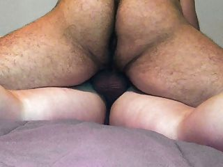Fucked From Behind On Her Belly Until Cum Inside