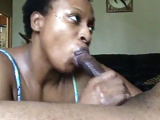 Black Milf Sucks Cock