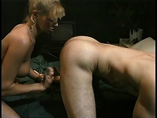 New Blonde Recruit With Firm Round Melons Gives Head Then Gets Fucked For Facial