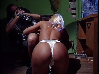 Hot Blonde Bangs A Hard Cock