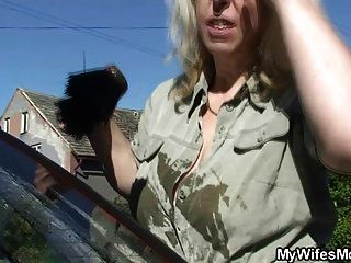 Son In Law Crams Her Old Pussy And Mouth