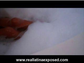 Bubbly Tub Bath With Busty Layla