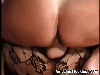 Sexy Slut In Crotchless Bodystockings Takin Dick In Her Ass